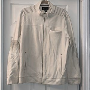 INC white zipper jacket